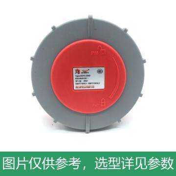 德力西DELIXI DEP2-3342 IP67 63A 4芯 415V 暗装插座,DHADEP23342R