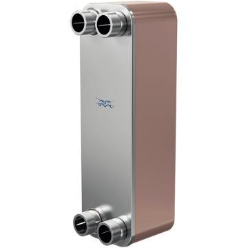 "Alfa Laval 铜钎焊板式换热器,CB110-36H,换热量60KW,进口1-5/8"",出口2-1/8"",油侧进口2-1/8"""