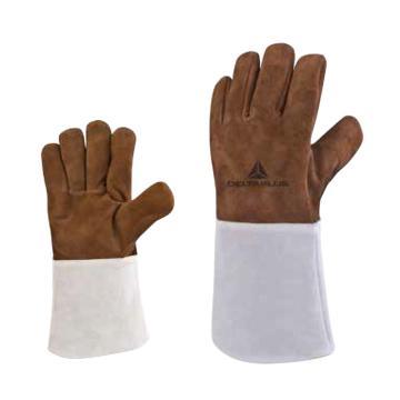 代尔塔DELTAPLUS 焊接手套,205250-10,TER250 高端全牛皮焊工手套,1副