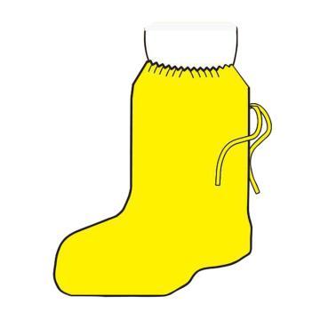 微护佳 防化鞋套,YE30-W-99-406-00,42-46均码 MC3000黄色靴套,150双/箱