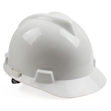 梅思安MSA V-Gard PE标准型安全帽,10146458,白色 一指键帽衬 针织布吸汗带 D型下颏带