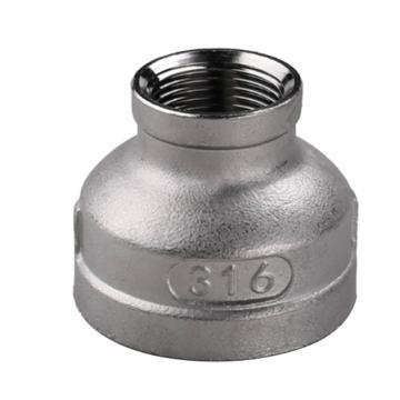 鸿冠 304不锈钢异径内丝,DN10×DN8