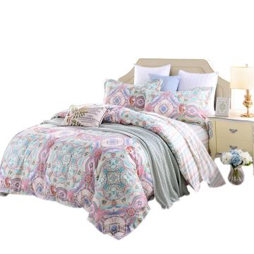 富安娜床单四件套,北欧假期 床单:230X250cm被套:203X229cm枕套:74X48cmX2