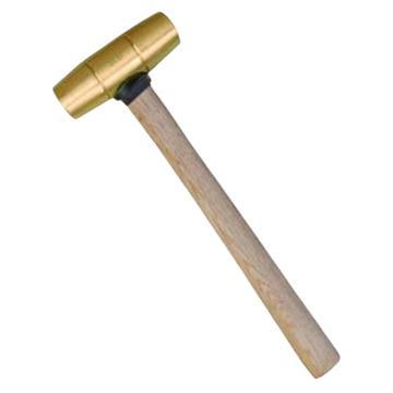 渤防 新型黄铜圆鼓锤,木柄,黄铜,1.5P,1405A-003 黄铜
