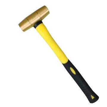 渤防 新型黄铜圆鼓锤,纤维柄,黄铜,1.5P,1405-003 黄铜