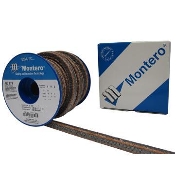 西班牙MONTERO,MG-974酚醛角线矿物纤维盘根,4*4,公斤价,5公斤/卷,5的倍数订货