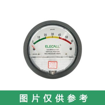 伊莱科 微压差表,TE2000 0-60Pa