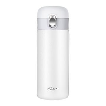 美的 350ml保温杯,不锈钢可爱情侣学生男女杯子 珍珠白,CJ35W101