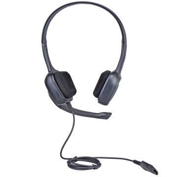北恩呼叫中心客服耳麦培训办公头戴式双耳耳机,FOR700D 电话水晶头接口(带线控及音量调节)