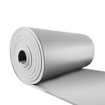 安赛瑞 隔热棉板防水反光屋顶防晒隔热保温棉,背胶方格铝箔,厚10mm,1x10m灰色