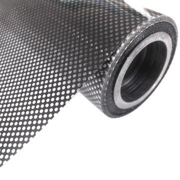 安赛瑞 黑色网状玻璃贴膜,遮阳半透明膜防晒膜,45cmx5m