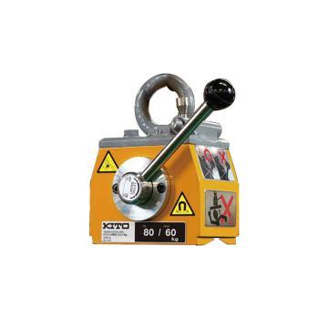 KITO 磁铁吊,最大工作载荷:平钢160KG,圆钢120KG(φ160),118×178×77,KRD16