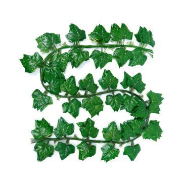 安赛瑞 仿真爬山虎绿植塑料吊顶藤蔓植物,室内装饰物,长2.2m约叶Φ9cm(30片叶),12条