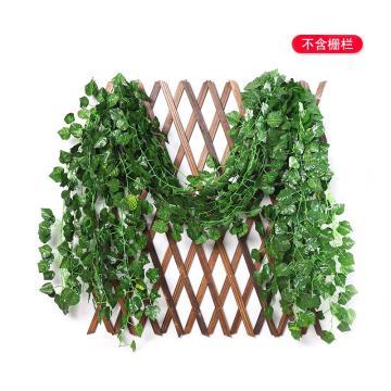 安赛瑞 仿真葡萄叶花藤条绿植塑料葡萄藤蔓,室内装饰物,长2m约叶Φ4cm(80片叶),12条