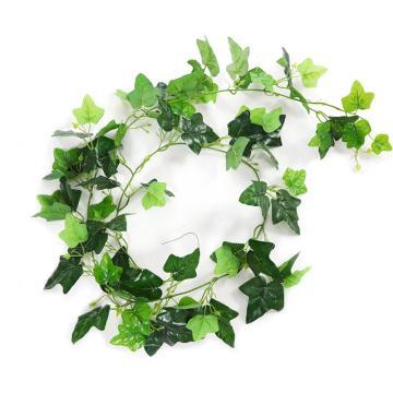 安赛瑞 仿真地瓜叶绿植塑料吊顶藤蔓植物,室内装饰物,长约2m叶Φ9cm(76片叶),1条