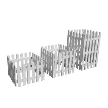 安赛瑞 碳化护栏木围栏围墙木头护栏防腐木栅栏,白色,50×120cm(5个),新西松,企业可定制