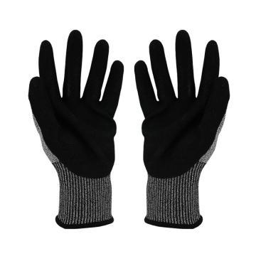 Raxwell HPPE D级防切割手套,RW2402,丁腈磨砂,13针,9/L,1副/袋
