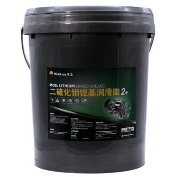昆仑 润滑脂,二硫化钼锂基润滑脂,2号,15kg/桶