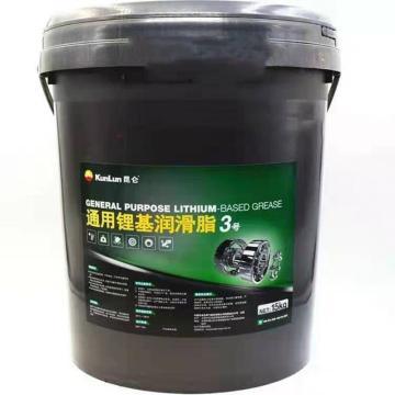 昆仑 润滑脂,通用 锂基脂 3号,15kg/桶