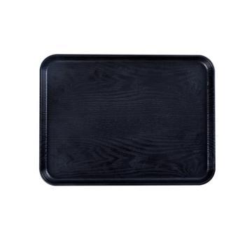 唐宗筷 C6002,38*29cm,塑料仿木方形托盘,黑色(单位:个)