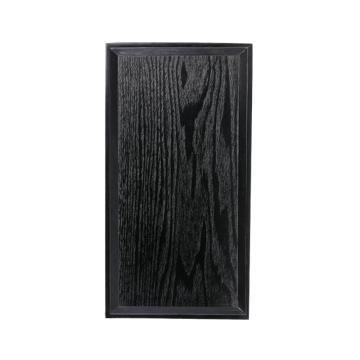 唐宗筷 C6328,30*16cm,木质方形托盘,黑色(单位:个)