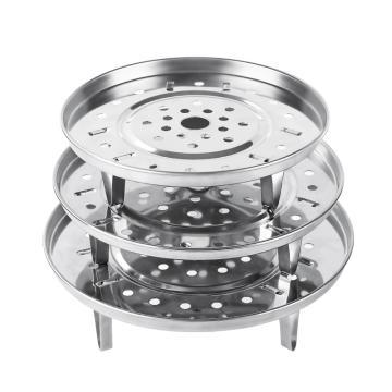 诺派(NUOPAI) C6452,三脚蒸架饺子盘,不锈钢蒸盘器,蒸包子蒸鱼厨房小工具,冲孔多用蒸盘器,伸缩蒸架