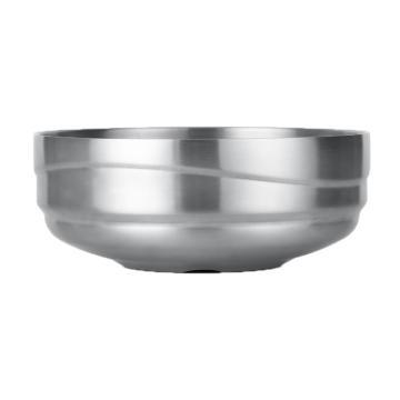 诺派(NUOPAI) C6000,304不锈钢碗,大汤碗双层隔热,成人饭碗,沙拉碗,餐具面碗18CM