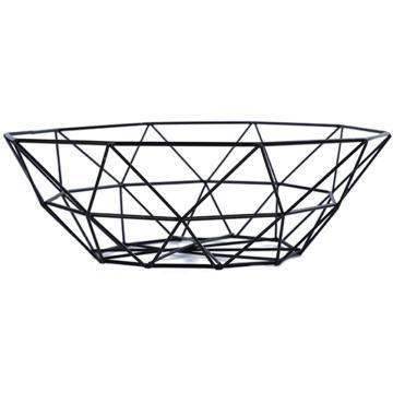 诺派(NUOPAI) C6037,北欧简约铁艺水果篮,水果盘,创意果盆,沥水篮,滤水架,客厅零食盘收纳框 26*8cm