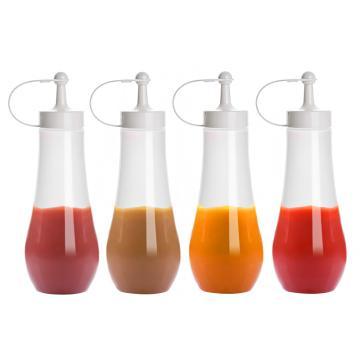 诺派(NUOPAI) C6866,360ML*4挤酱瓶,调味瓶塑料软挤压瓶,尖嘴挤酱瓶,细口调料瓶
