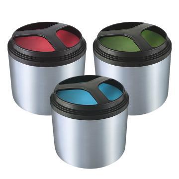 诺派(NUOPAI) C6300,单层饭盒不锈钢,绿色蓝色红色/三色随机/1L