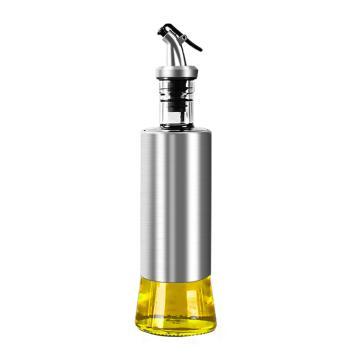 诺派(NUOPAI) C6716,不锈钢玻璃油壶320ml,防漏油瓶醋壶,厨房家用,调味瓶,油罐,酱油调料瓶,料酒壶