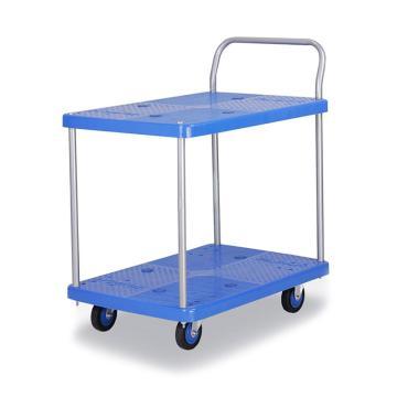 连和 全静轮双层单扶手车板式手推车,铁支架轮 150KG,PLA150Y-T2