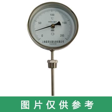 西域推荐 不锈钢双金属温度计,WSS-583 0-200度 L=150MM 直径10MM