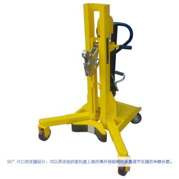 汉利 油桶液压搬运车,额定载荷(kg):450 长*宽*高(mm):940*1115*1220,ERGO-MATIC™