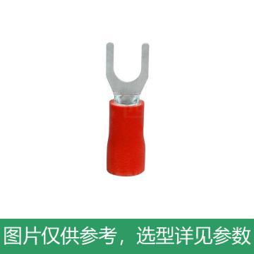 德力西DELIXI SV1.25-3叉形预绝缘端头 (红色)0.6mm,DHASV1025M3RHB,500只/包