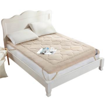 博洋家纺 珊瑚绒舒柔床褥,W91015301207 180*200cm 驼色