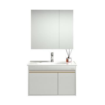 九牧 轻奢浴室柜(白色80cm带灯),A2255-011A-2