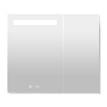 九牧 带灯带除雾铝合金镜柜850mm,AC2253-738H-4