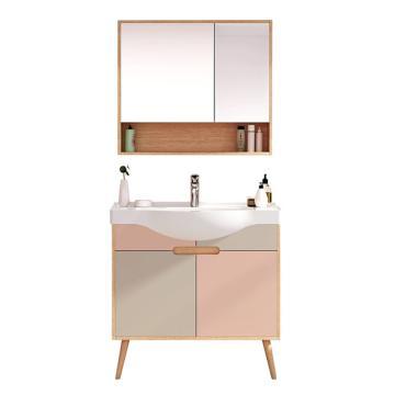 九牧 日式拼色款浴室柜850mm,A1260-129E-1