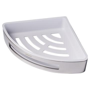 九牧 不锈钢角篮,卫浴卫生间置物架不锈钢三角篮ABS镂空可拆卸浴室挂件,937160-AB-1