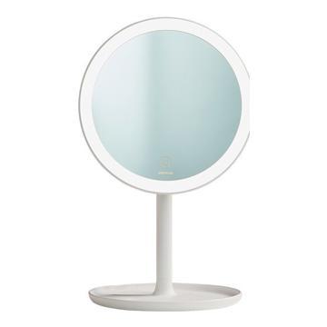 九牧 多功能美妆镜,LED高清台式美妆镜化妆镜自带光源指触开关梳妆白色圆镜,937228-00-1