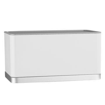 九牧 纸巾盒,卫生间纸巾盒厕所卫生纸抽纸盒可置物两用湿区防水防潮纸巾盒,939089-00-1