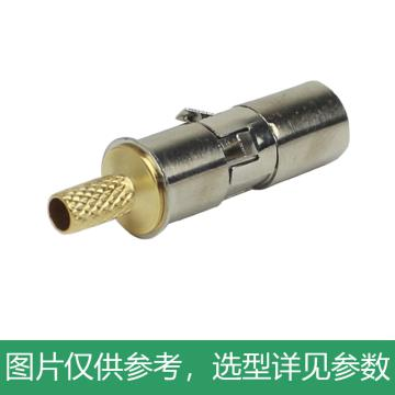 海乐 2M两兆头NEC公头(75-2)射频同轴连接器同轴电缆接头10个装2M-NEC-2