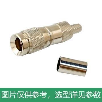 海乐 2M两兆头CC4(75-2)视频接头公头 同轴电缆接头DDF射频线连接器10个装 2M-CC4