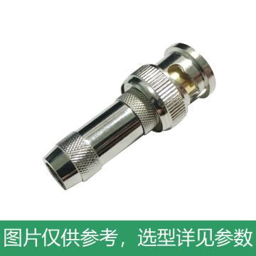 海乐 2M两兆头BNC/Q9(75-3)视频接头公头 同轴电缆接头DDF射频线连接器10个装2M-BNC-3