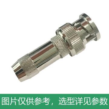 海乐 2M两兆头BNC/Q9(75-2-2)视频接头公头 同轴电缆接头DDF射频线连接器10个装2M-BNC-2