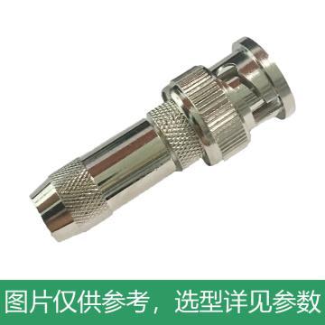 海乐 2M两兆头BNC/Q9(75-2-1)视频接头公头 同轴电缆接头DDF射频线连接器10个装2M-BNC-2-1