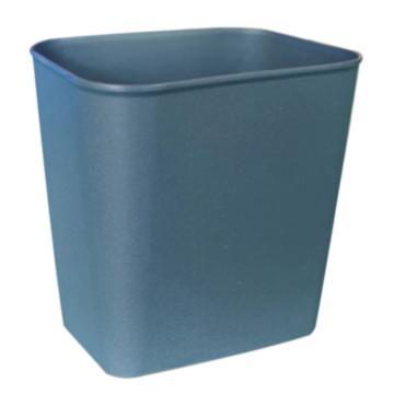 白云阻燃垃圾桶,8L AF07015A,24*16.5*26.5cm 灰色