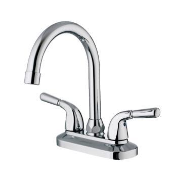 九牧 卫生间全铜双孔面盆龙头双把浴室柜冷热水旋转龙头,2203-250/1C1-Z
