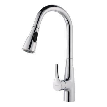 九牧 厨房龙头,冷热抽拉式水槽洗菜盆龙头单把单孔,33098-385/1B-Z